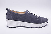 Кроссовки №342-26 серый замш, фото 1