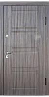 Входная дверь стандартных размеров модель 809 (Темная лиственница)