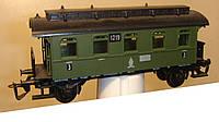 2-осный старинный вагон 3 класса № 1219 зеленый