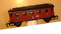 2-осный старинный вагон 3 класса № 2115