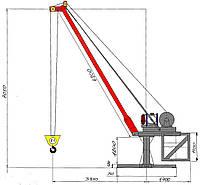 кран стреловой строительный Днепр 2М-160
