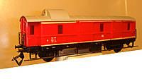 2-осный багажный вагон DR красный