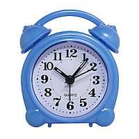 Будильник №8836 часы настольные с подсветкой (голубой)