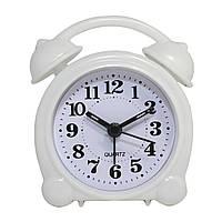 Будильник №8836 часы настольные с подсветкой (белый)