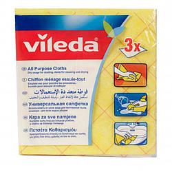 Серветки універсальні All Purpose Cloth, Vileda, 3 шт.