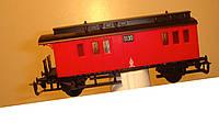 2-осный багажный вагон Пруссия № 1130 красный