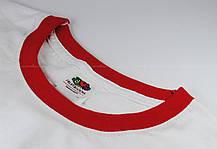 Мужская Футболка c Цветной Окантовкой Fruit of the loom Белый/Красный 61-168-Wm M, фото 2