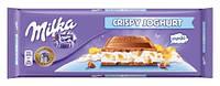 Шоколад Milka CRISPY JOGHURT Милка Криспи йогурт 300г.
