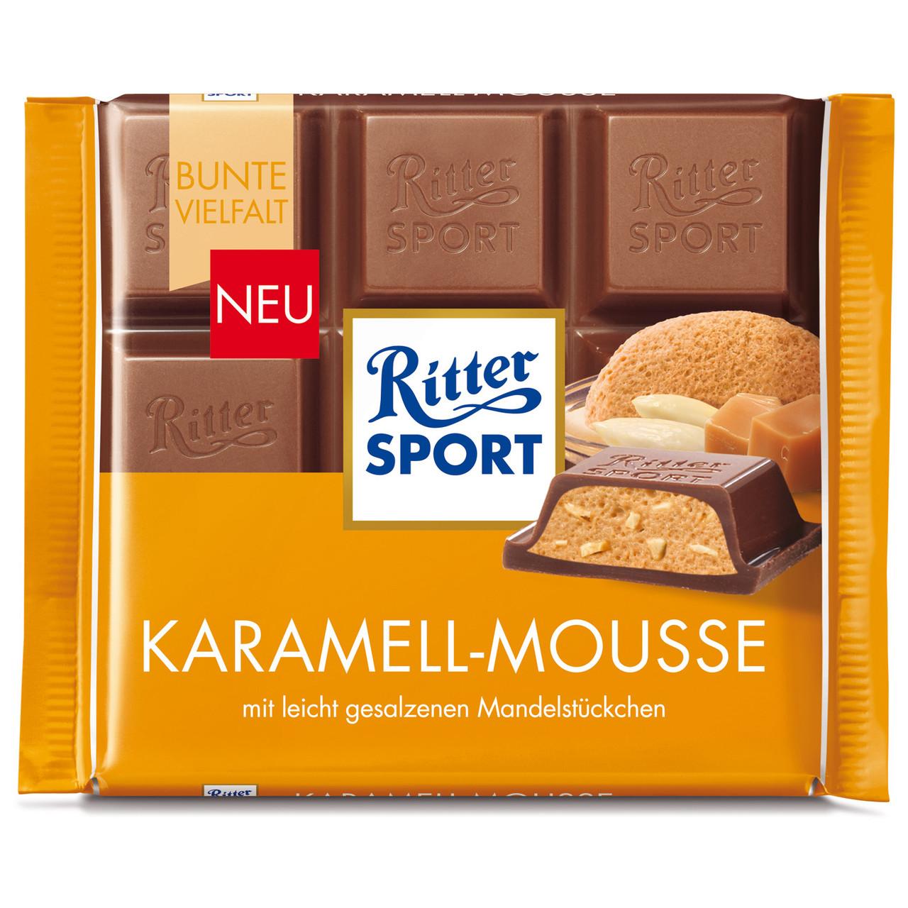 Шоколад Ritter Sport Karamell-Mousse Карамельный мусс 100г (1уп/11шт)