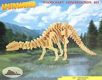 Сборная деревянная 3D модель бронтозавра (2 пластины)