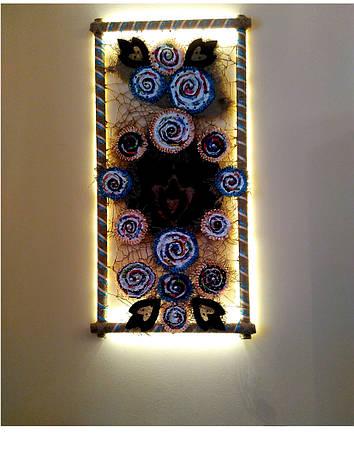 """Декоративное панно картина светильник на стену """"Вечная любовь"""""""", фото 2"""