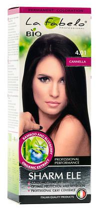 Крем-краска для волос био 50мл тон 4.01 La Fabelo Professional, фото 2