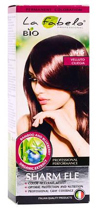 Крем-краска для волос био 50мл тон 4.5 La Fabelo Professional, фото 2