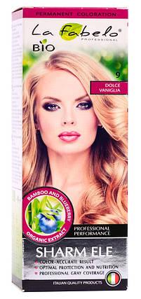 Крем-краска для волос био 50мл тон 9 La Fabelo Professional, фото 2