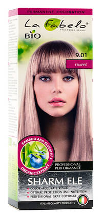 Крем-краска для волос био 50мл тон 9.01 La Fabelo Professional, фото 2