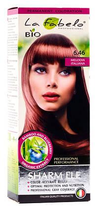 Крем-краска для волос био 50мл тон 6.46 La Fabelo Professional, фото 2
