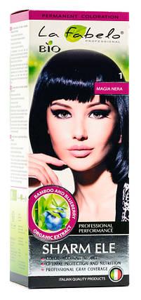 Крем-краска для волос био 50мл тон 1 La Fabelo Professional, фото 2