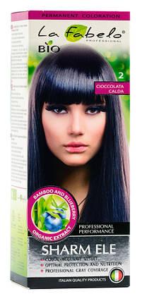 Крем-краска для волос био 50мл тон 2 La Fabelo Professional, фото 2