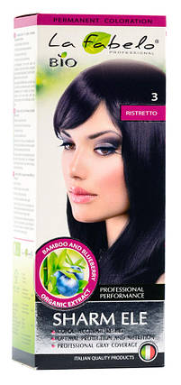 Крем-краска для волос био 50мл тон 3 La Fabelo Professional, фото 2
