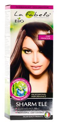 Крем-краска для волос био 50мл тон 4 La Fabelo Professional, фото 2