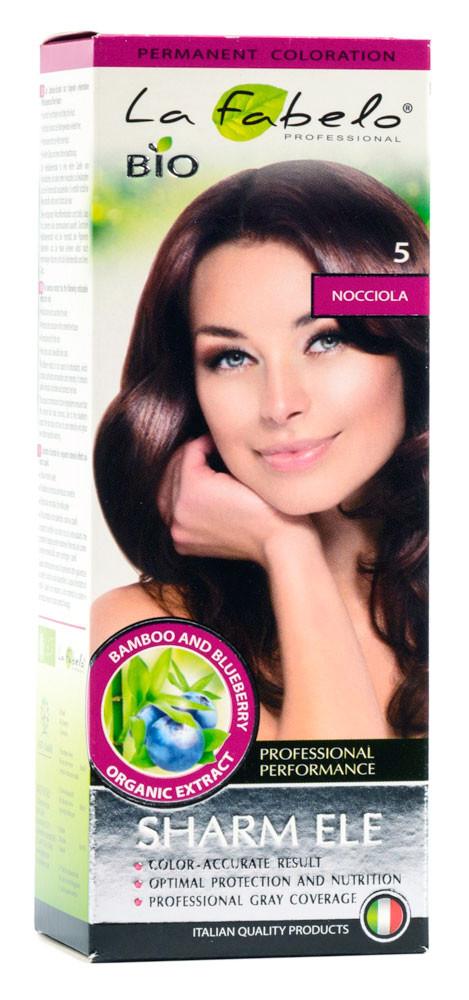 Крем-краска для волос био 50мл тон 5 La Fabelo Professional