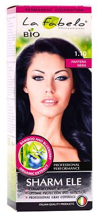 Крем-краска для волос био 50мл тон 1.10 La Fabelo Professional, фото 2