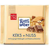 Шоколад Ritter Sport Keks+Nuss Кекс c лесным орехом 100г