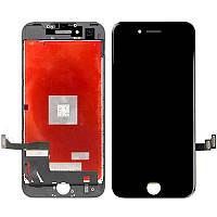 Дисплей iPhone 7, черный, с рамкой, с сенсорным экраном, high-copy