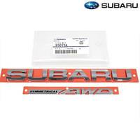 Subaru Legacy 2010-14 эмблема значок на багажник Subaru AWD Symmetrical Новый Оригинал