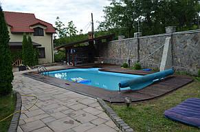 Монтаж Террасной доски из Термоясеня вокруг басейна 2