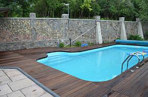 Монтаж Террасной доски из Термоясеня вокруг басейна 3