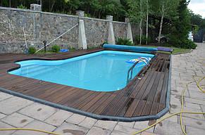 Монтаж Террасной доски из Термоясеня вокруг басейна 4