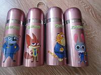 Детский термос для напитков и чая с клапаном ZooTopiA