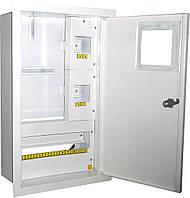 Щит распределительный под 1ф счетчик электронный +16 автоматов внутренний