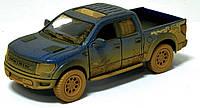 Машина метал. 5365WY Kinsmart Ford F-150 SVT Raptor Supercrew Muddy, фото 1