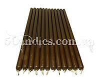 Восковые коричневые свечи 27см