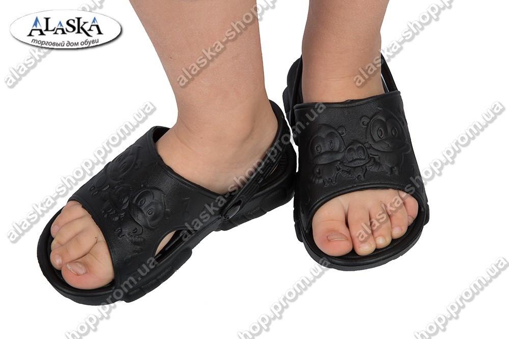 Детские сандалики черные (Код: ПД-01)