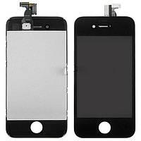 Дисплей Apple iPhone 4s + сенсор чёрный.