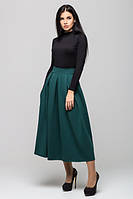 Трикотажная  зеленая юбка Мелани Leo Pride 42-48 размеры