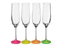 Набор бокалов Bohemia Neon для шампанского 4 шт. (190 мл)
