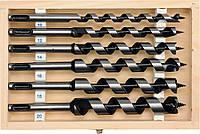 Спиральные сверла для дерева, Ø-10,12,14,16,18,20мм, L-200 мм., SDS + YATO YT-3300.
