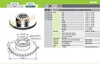 Диск тормозной MAN передний вентилируемый 98.002.007-FR / 81508030023