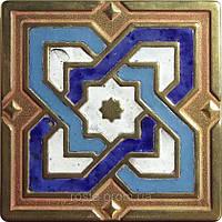 Декоративная плитка. Латунь покрытая эмалью. Barcelona (7,5x7,5)