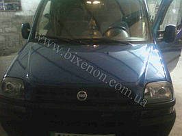 Установка биксеноновыз линз G5 на Fiat Doblo 1