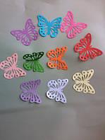 Бумажные бабочки для декора и рукоделия, 20 штук