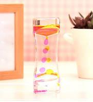 Масляний годинник, жовто-рожевий, цікаво для дітей і прикраса на поличку