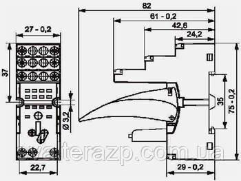 Колодка монтажная GZT2 для реле R2