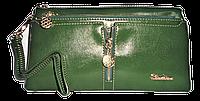 Женский кошелек Balisa темно зеленого цвета из кожзама LLP-062416