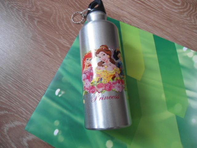 Бутылка бутылочка алюминиевая с карабином 8003-500 мл