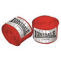 Бинты боксерские Lonsdale 3.5 м красные черные